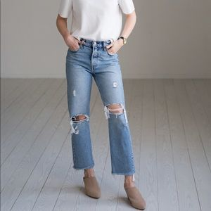 Levi's Straight Distressed Jeans